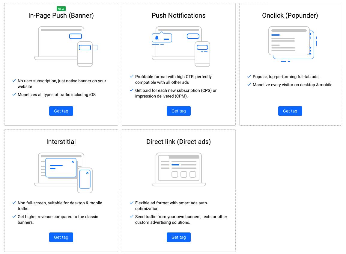 Det bästa Adsense alternativet för nya bloggar, små webbplatser och de som har lite trafik kallas Propeller ads. Den bästa annonslösningen just nu under 2020 om man borser från Adsense.