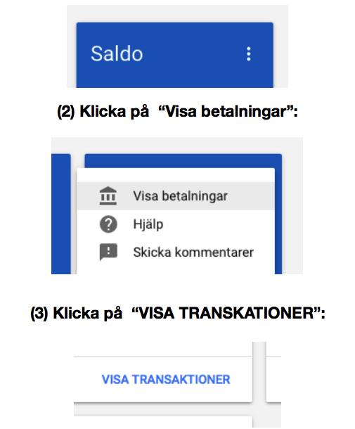 Steg för steg beskrivning av hur du får fram informationen om utbetalningen och summan i Google Adsense nya layout