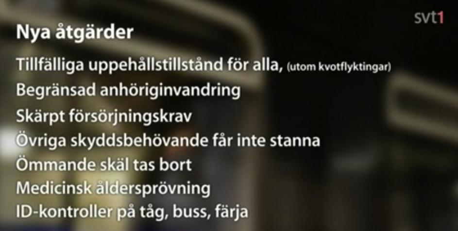 Sverige minskar invandringen. Inför hård restriktioner i flyktingmottagandet. Regeringen inför SD:s politik som tidigare kallats rasistisk, fascistisk och även nazistisk. Regeringen vänder kappan efter vinden. SVTPLAY: https://www.svtplay.se/video/4909918/rapport/rapport-1816