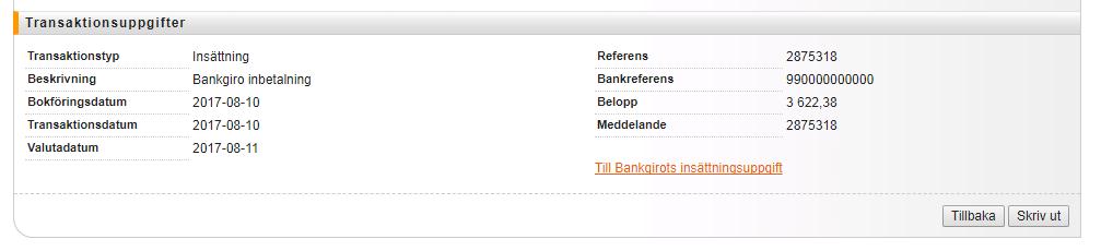 Bankgirot slår ihop olika transaktioner till en enda totalsumma som du sedan måste dela upp i bokföringen.
