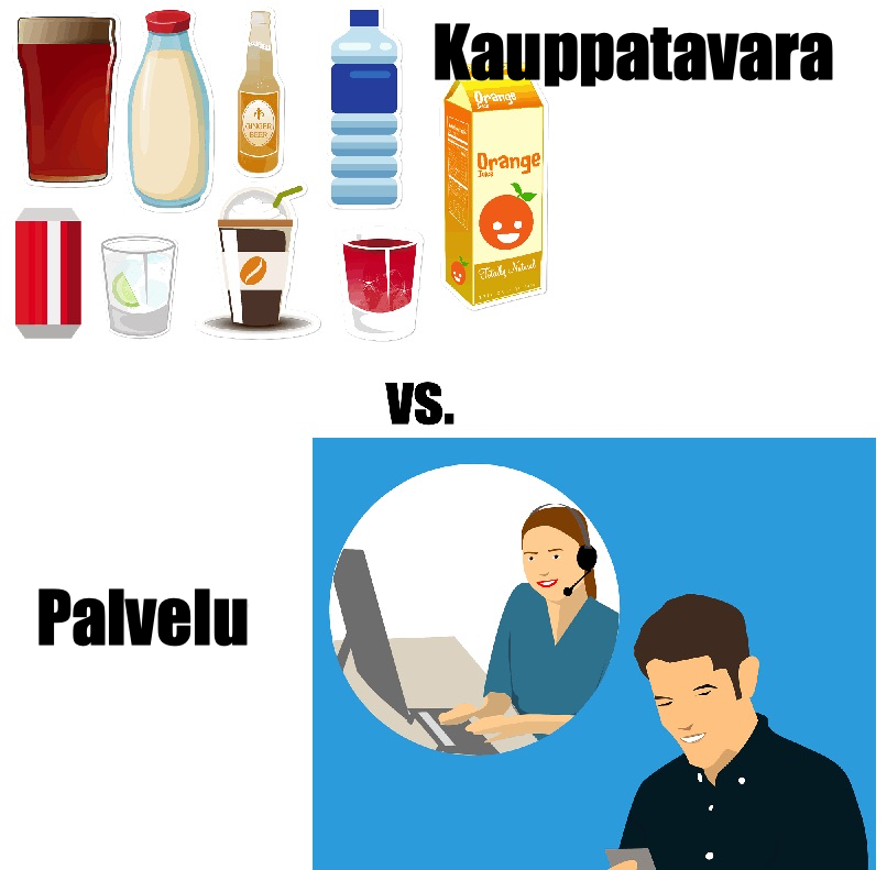 Kauppatavara vs. Palvelu