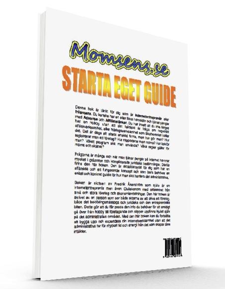 Starta Eget Guide - Ladda ner e-bok om hur man registrerar och driver ett internetbaserat företag med moms, bokföring och skatter.