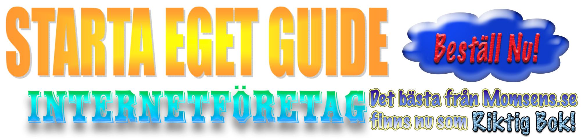 Starta Eget Guide reklambanner Tryckt bok