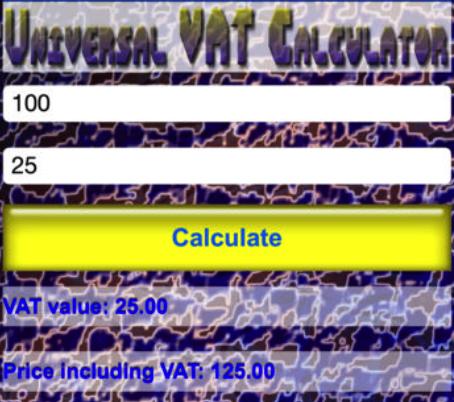 VAT calc app