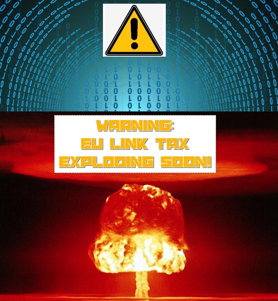 Link tax law destroys the Internet