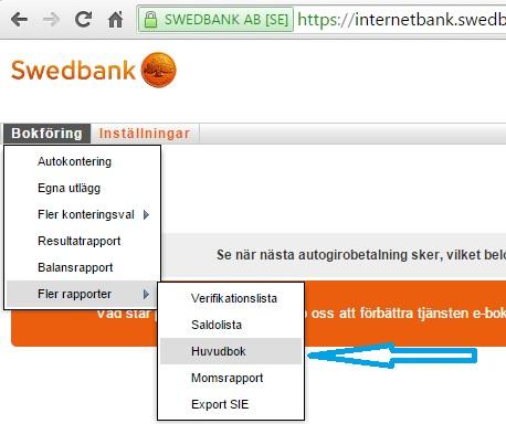sortera ut momskod 390 i Speedledger - försäljning tjänster EU